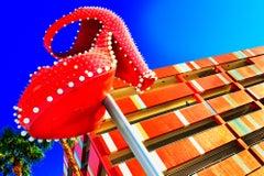 Big Red Shoe On Fremont Street In Downtown Las Vegas