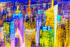 Blurred Colorful New York Skyline