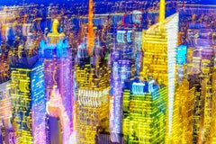 Blurred New York Skyline