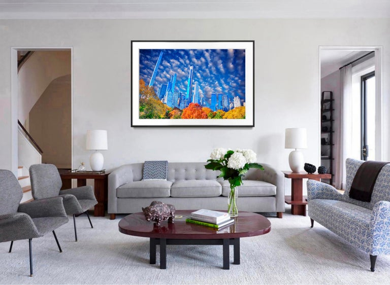 Central Park Skyline Billionaires' Row Manhattan - Post-Impressionist Photograph by Mitchell Funk