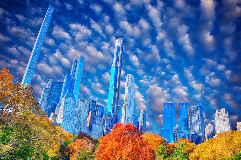Mitchell Funk Abstract Photograph - Central Park Skyline Billionaires' Row Manhattan