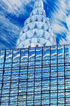 Chrysler Building Top,  Art Deco Architecture Blue And Silver