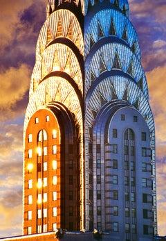 Chrysler Building Top - Art Deco Skyscraper in Gold