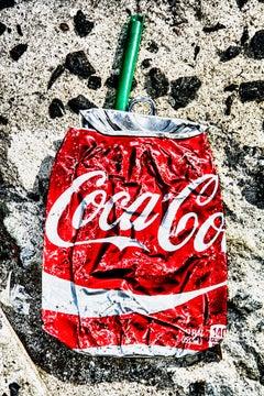 Crushed Coke Can Street Asphalt - Real Life Street Art - Like Irving Penn