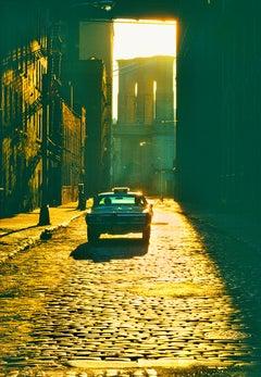 Dumbo - Gold Brooklyn Bridge Cobblestone Street