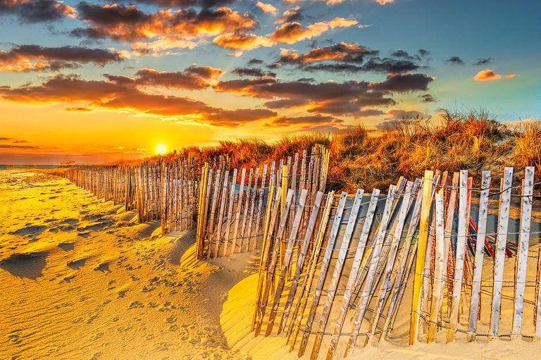 Mitchell Funk Color Photograph -  East Hampton Wainscott  Beach at Sunset