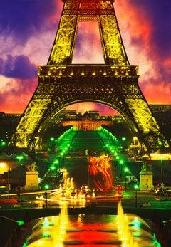 Eiffel Tower At Dusk With Dramatic Sky, Paris France