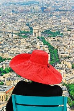 Fashion Red Hat in Paris