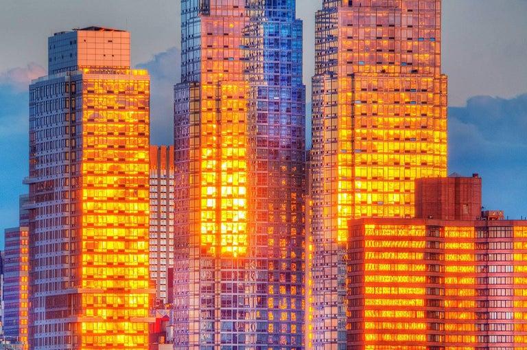 Mitchell Funk Color Photograph - Golden City