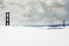 Monochromatic Golden Gate Bridge in Fog,  San Francisco