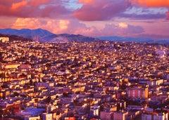 Golden Gate Bridge with Vista of San Francisco in Pastel Pinks