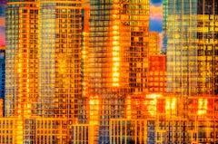 Golden Reflections off Manhattan Skyscrapers