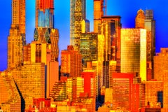 Golden SkyScrappers Manhattan Skyline
