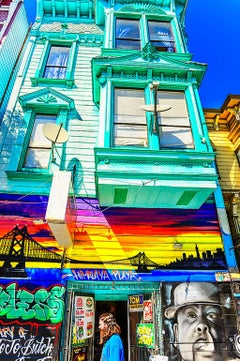 Haight-Ashbury Architecture and Groovy Man