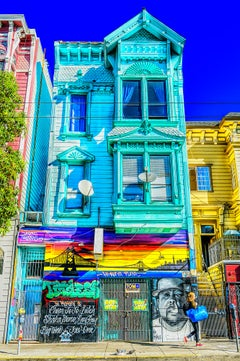 Haight Ashbury Victorian  Architecture with Street Graffiti
