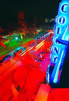 High Angle View Of The Colony Hotel On Ocean Drive, Miami Beach