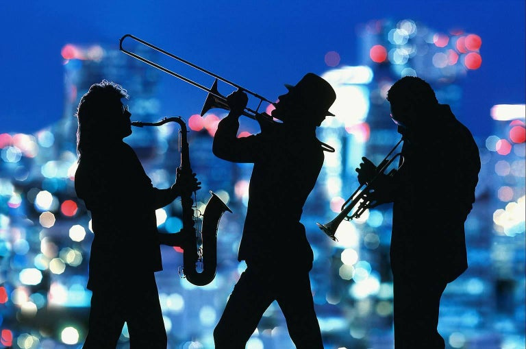 Mitchell Funk Color Photograph - Jazz Muscians Museum