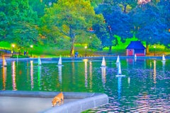 Model Sailboats In Central Park Pond, New York City