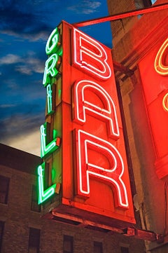 Neon Bar and Grill Sign Tenderloin at Night