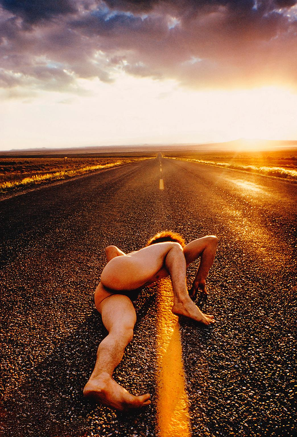 Nude man on Endless Surreal Road