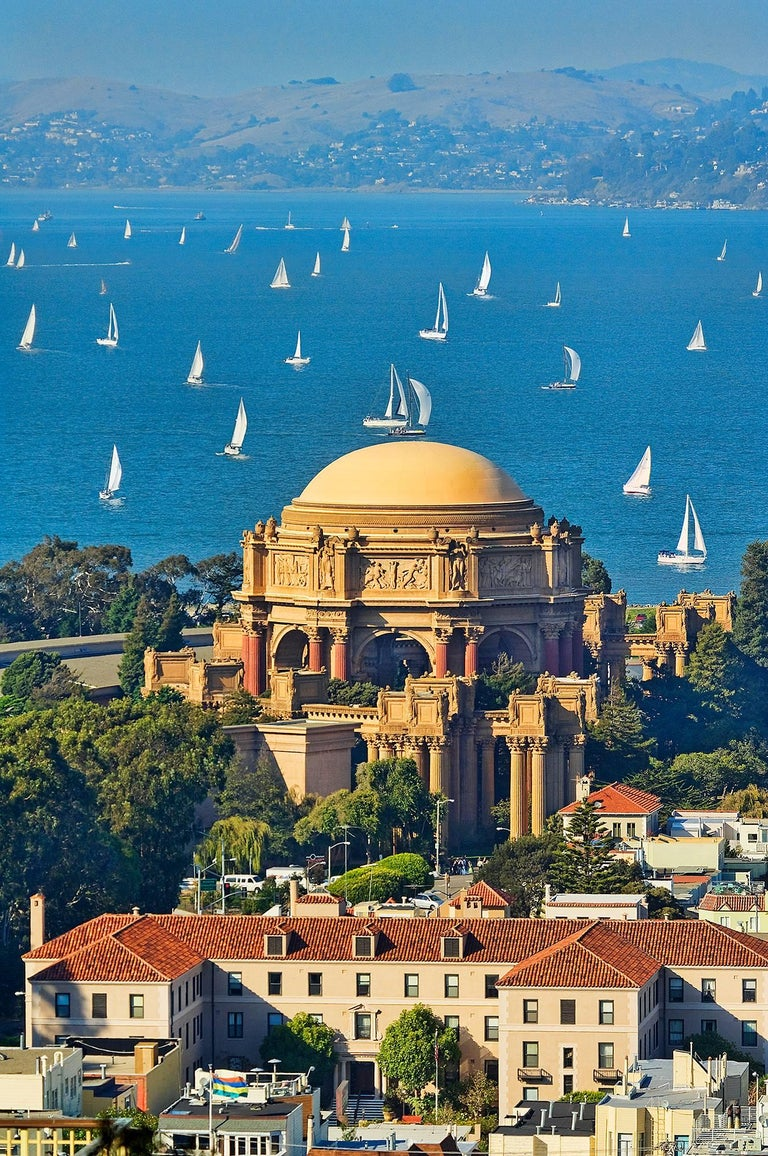 Mitchell Funk Landscape Photograph - Sailboats: Palace of Fine Arts San Francisco