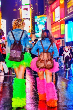 Party Boots  and Tutus in Hot Pink and DayGlo Green, Times Square