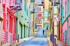 Pastel Alley In North Beach, San Francisco