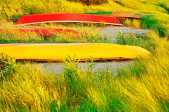 Red and Yellow  Boats in East Hampton