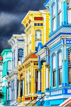 Row Victorian Houses in Mission District  San Francisco