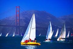 Sailboat at Golden Gate Bridge San Francisco