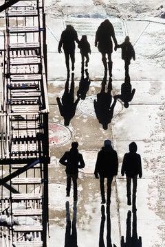 Silhouette Of People Walking On New York City Street