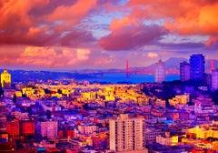 The Golden Light Of Sunrise Over San Francisco