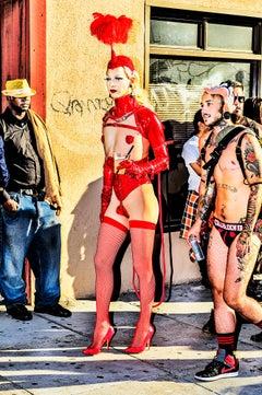 """""""The Queen"""", Gay San Francisco , Folsom Street Fair. BDSM Leather LGBTQ FETISH"""