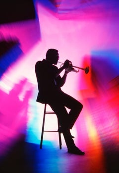 Trumpet Player: Soulful Rainbow of Color