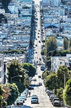 View of Russian Hill in Blue, San Francisco
