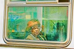 Women With Hat In Bus Window,  San Francisco
