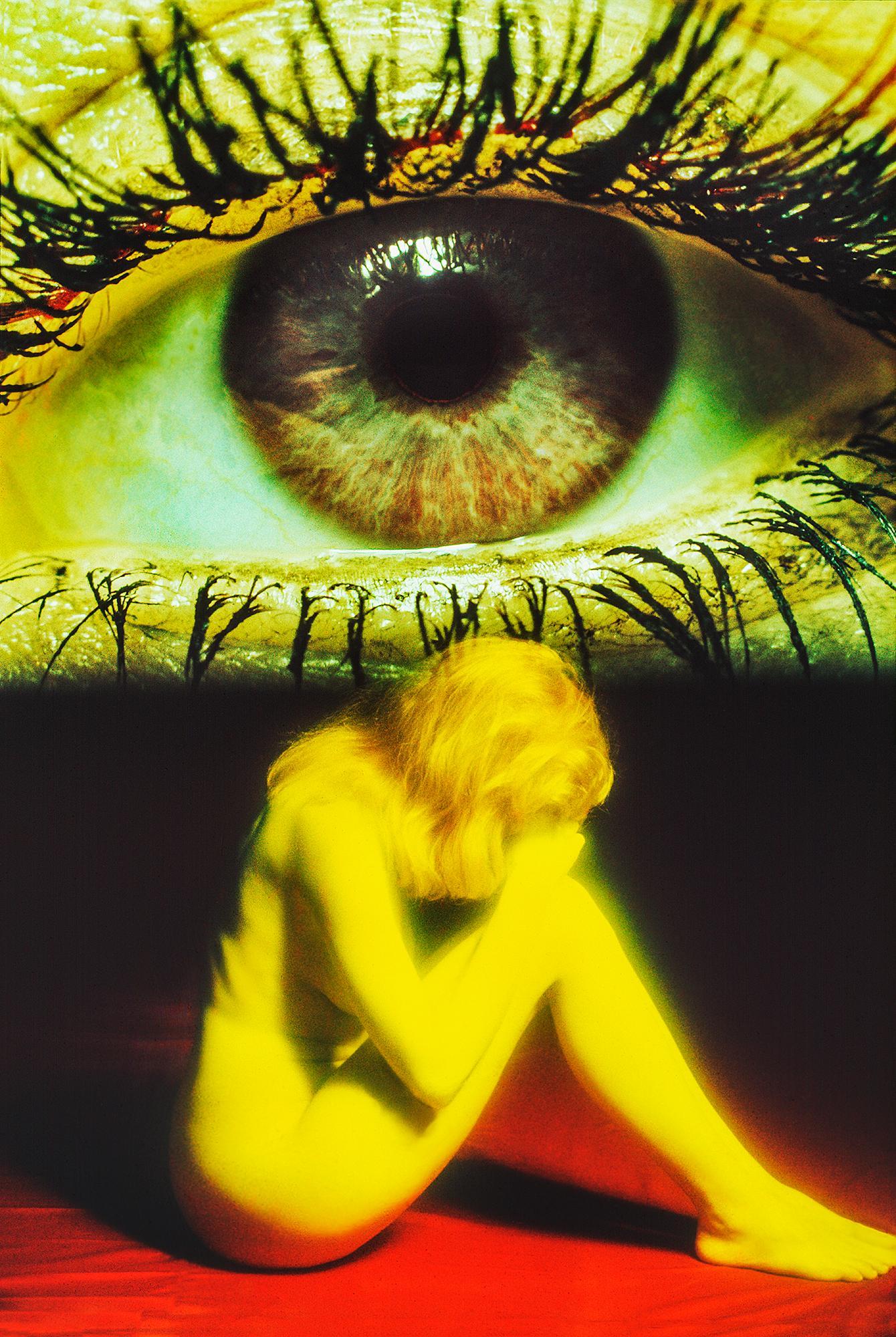 Surreal Yellow Nude with Eye