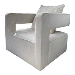 Nico Swivel microsuede Chair, Pair