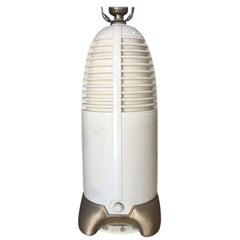 "Mitchell ""Lumitone"" Streamline Bakelite Radio Table Lamp, 1941"