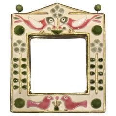 Mithé Espelt, Bird Mirror, Ceramic, circa 1960, France