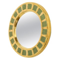 Mithé Espelt Mirror, Ceramic, Gold and Green