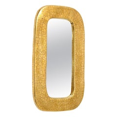 Mithé Espelt Mirror, Ceramic, Gold Crackle