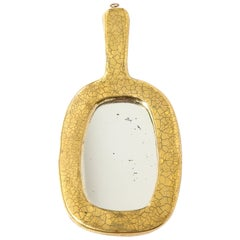 Mithé Espelt Mirror, Ceramic, Gold