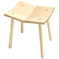 Mitre Stool from Souda, Low, Maple, Floor Model