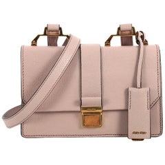 Miu Miu Bicolor Madras Shoulder Bag Leather Small