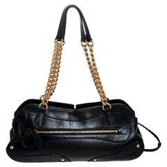 Miu Miu Black Leather Chain Satchel