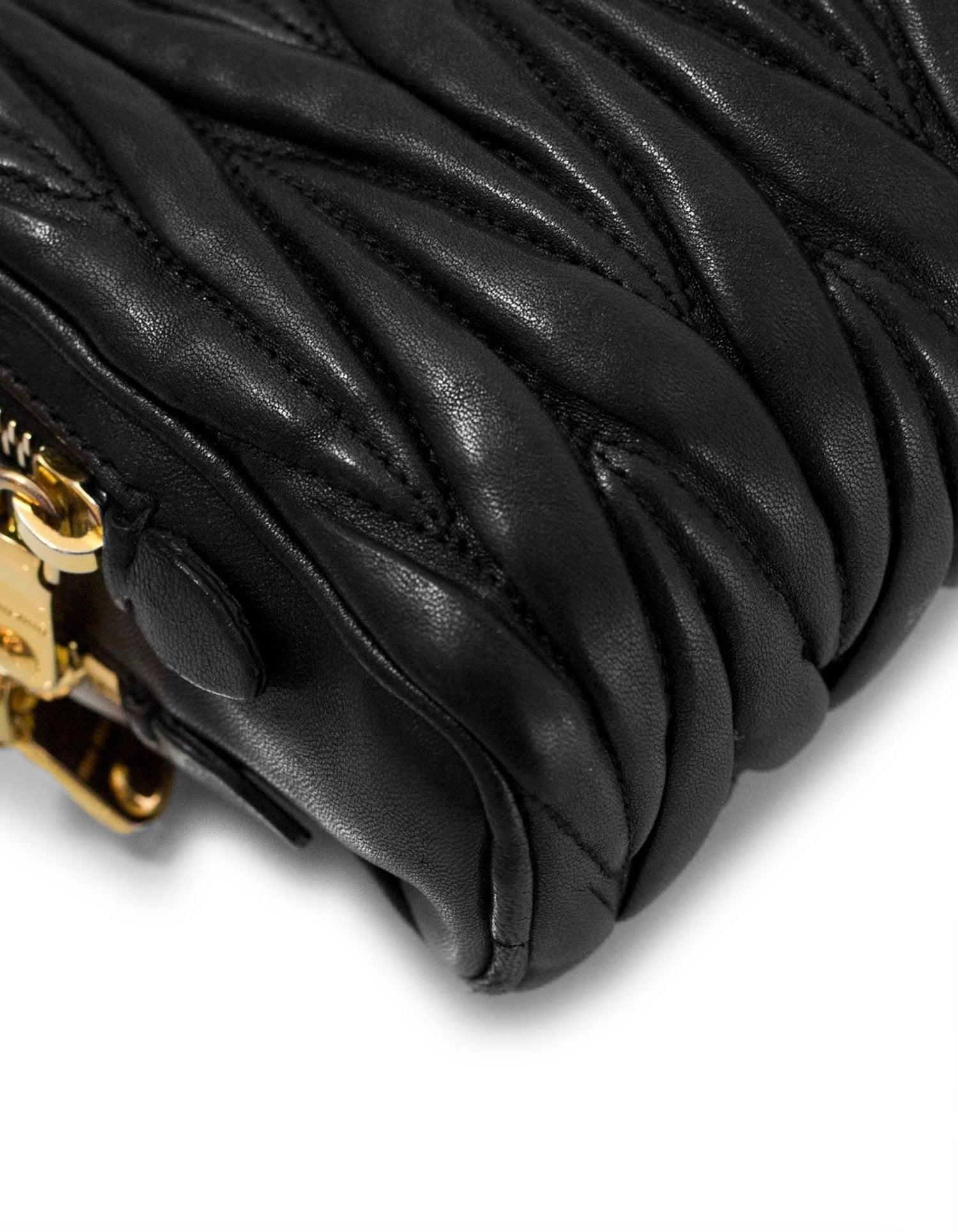 Miu Miu Black Nappa Leather Matelasse Lux Camera Crossbody Bag For Sale at  1stdibs 270edb66b6d9f