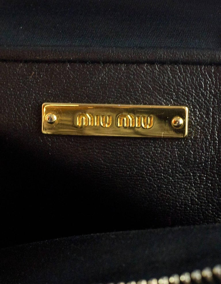 Miu Miu Black Nappa Leather Matelasse Lux Camera Crossbody Bag For Sale 3 8ddd6f7b14207