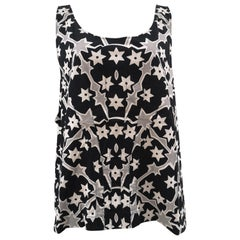 Miu Miu black white grey oversize top