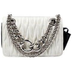 Miu Miu Black/White Matelasse Leather Small Club Shoulder Bag